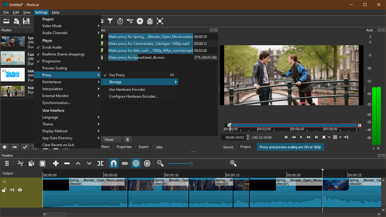 Free windows video editor